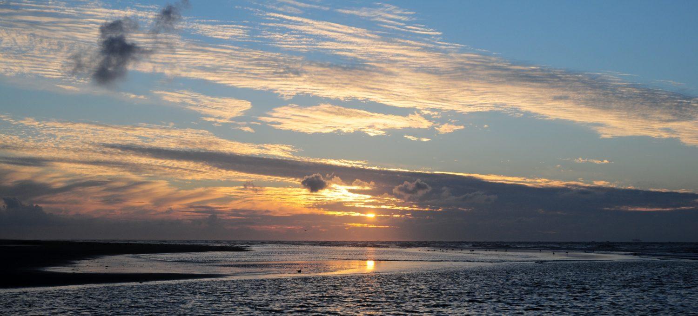 Zonsondergang bij Schiermonikoog